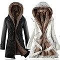 Большой размер Кашемир хлопок мягкий Женщины зимняя куртка толстый слой долго вниз пальто С Капюшоном женский куртка женщин зимняя одежда TT168