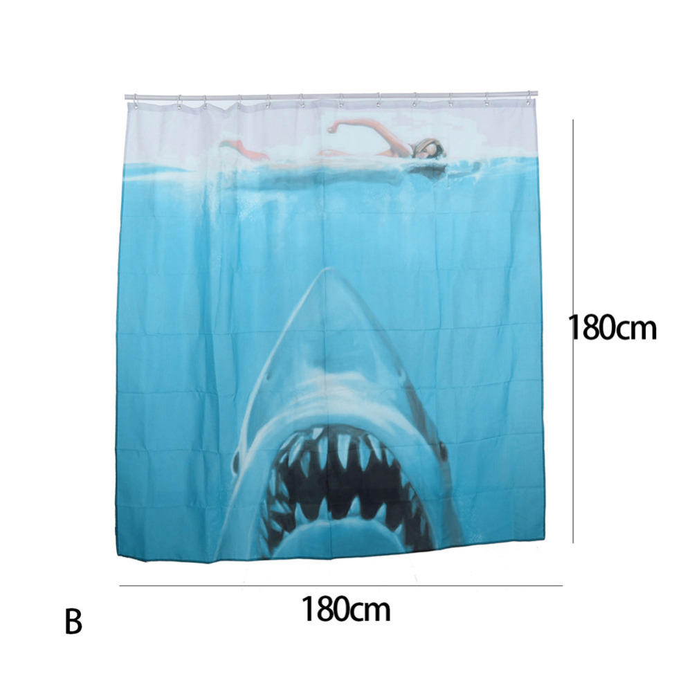 Waterproof Bathroom Shower Curtain Uni-angle Animal And Cat Pattern Polyester Fabric With 12 Hooks 150x180cm Quality Pretty And Colorful Bathroom Fixtures