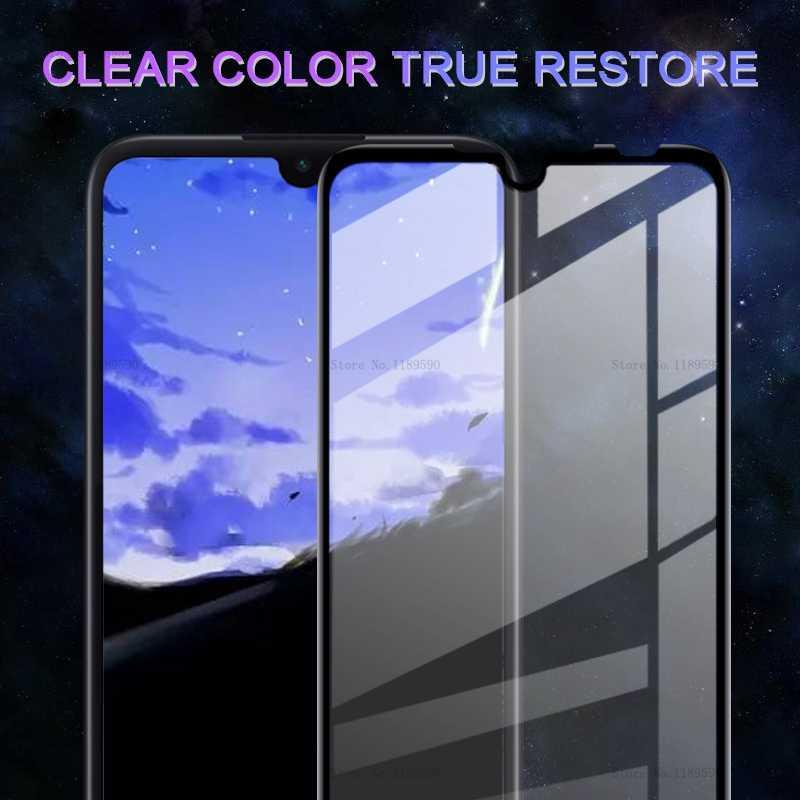 フルカバー強化ガラス Xiaomi Redmi 4 × 5 プラス 6A 7 6 Redmi 注 5 プロ 7 6 4 8 プロ 8 Pocophone F1 7A スクリーンプロテクターフィルム