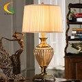-Estilo europeu de luxo cristal candeeiro de mesa quarto lâmpada de cabeceira moda criativa sala de estar do hotel Chinês moderno de