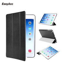 Easyacc Case for iPad mini 1 2 3, Tri-fold smart cover Color Ultra Slim PU Leather Transparent Back Case for iPad mini 1 2 3 romanson tm 4201 mg wh
