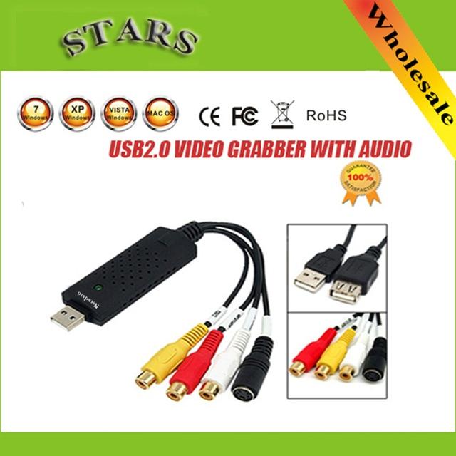 USB 2.0 karta przechwytywania wideo grabber Adapter z chipsetem STK1160 dla TV DVD VHS konwerter usb wsparcie Dla Windows