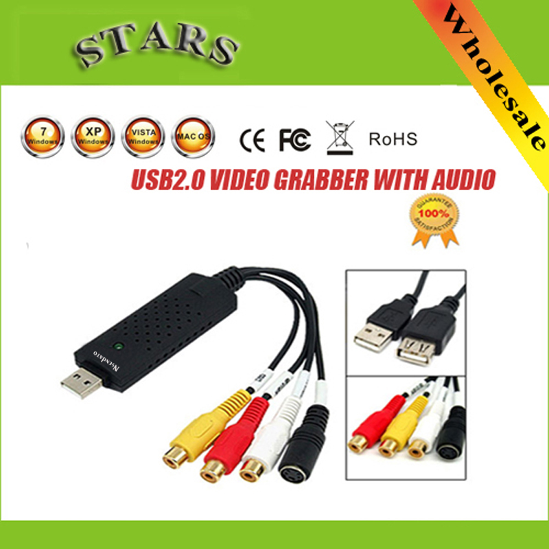 USB 2.0 tarjeta de vídeo adaptador Grabber captura de chipset stk1160 para TV VHS DVD al convertidor de apoyo USB Ventanas