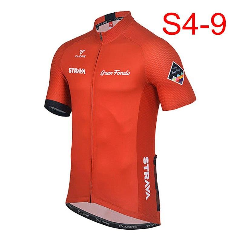 2018 STRAVA Homens ciclismo jerseys de manga curta Ciclismo jerseys ciclo mtb bicicleta só camisa de ciclismo roupas Maillot ciclismo K122409