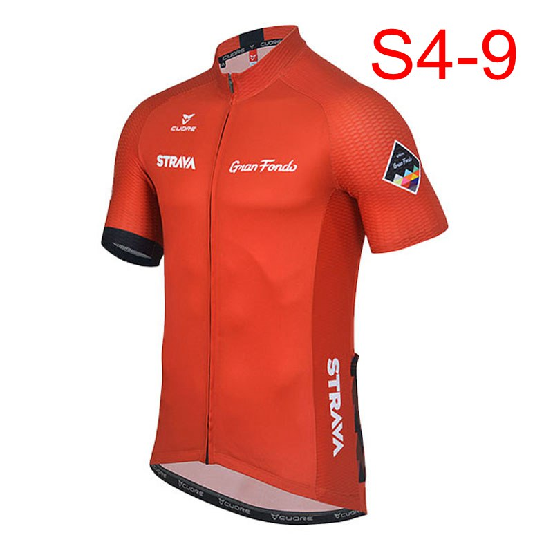 2018 <font><b>STRAVA</b></font> Men short sleeve cycling jerseys Cycling jerseys mtb cycle <font><b>bike</b></font> only <font><b>shirt</b></font> cycling clothing Maillot Ciclismo K122409 image