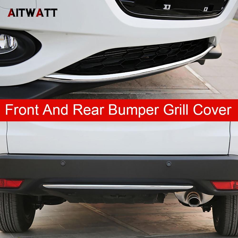 External Front And Rear Bumper Grill Cover Fit For Honda HRV HR-V Vezel 2014 2015 2016 ABS Chrome Trim Car Accessories 2Pcs/set