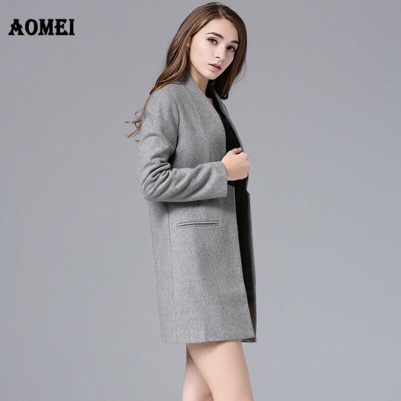 2019 nouveaux pardessus femme laine manteau haute qualité hiver veste laine cachemire mélange manteaux Cardigans solide Simple Style vestes
