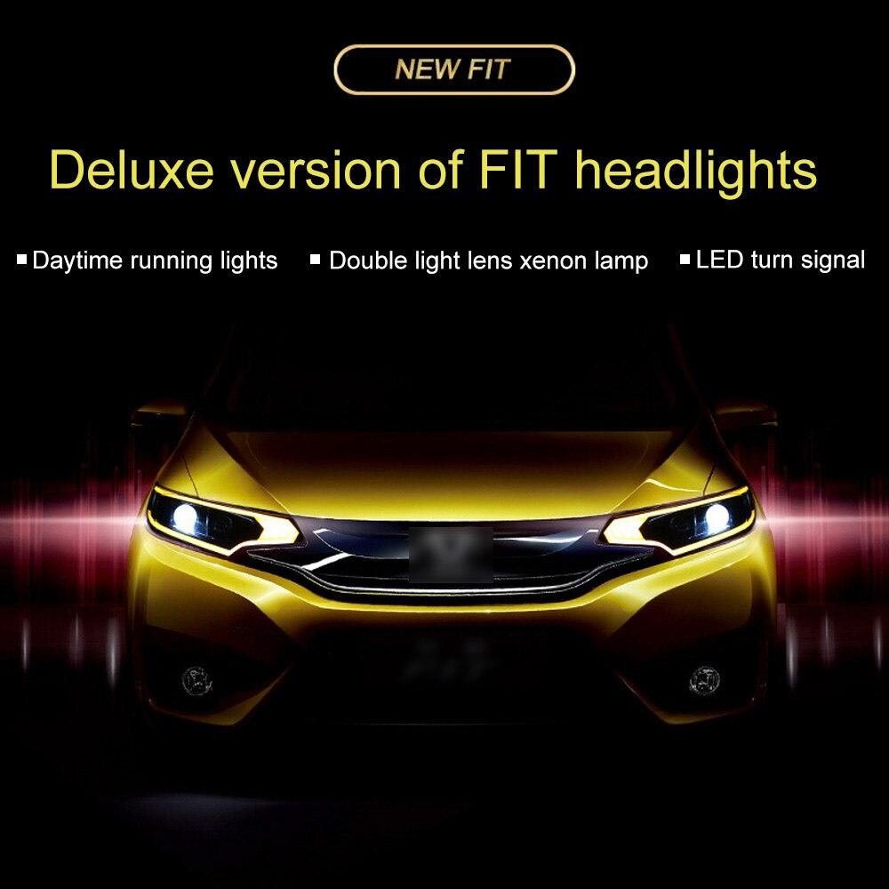 Pour 14 18 assemblage de phares GK5 Modification de voiture Guide de lumière locale LED phares au xénon de jour - 3