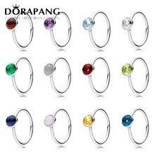 Dorapang 100% 925 Anillos para las mujeres 12 meses opcional multicolor encanto Cuentas DIY anillo de fábrica al por mayor