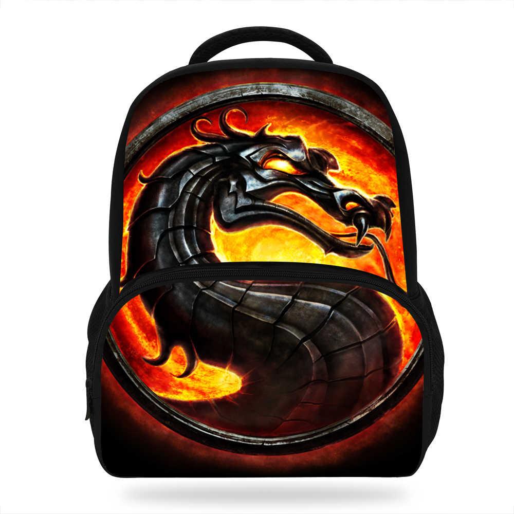 947de9dedf28 16 Inch Travel School Bag Girls Boys Backpacks Scorpion In Mortal ...