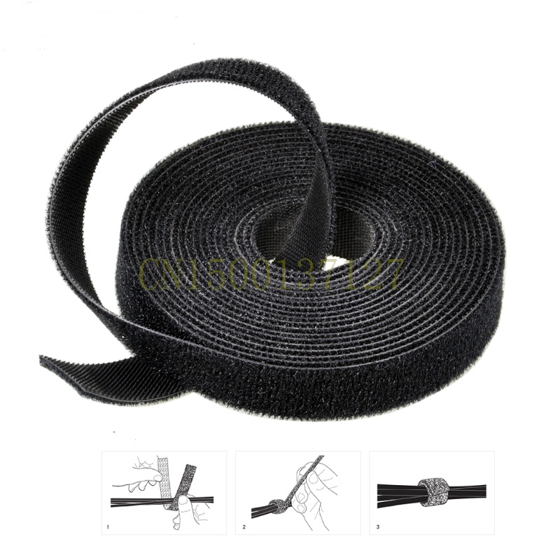 1PCS 25meters Magic cable tie Wide 20 mm Hook Loop self adhesive magic colorful striped self tie wide leg pants