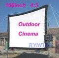 Matte Branco Suave tecido Home Theater 100 inch 4:3 Projeção de Vídeo HD Tela de Cinema Projetor Simples com furos Frete Grátis