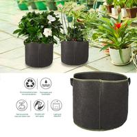 5 Pack Planting Grow Bags 10 Gallon Aeration Fabric Pots Container With Handles For Fruit Vegetable Planting Bag With Handle
