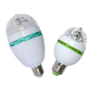 Image 5 - 6W 3W E27 RGB Lamp LED Bulb Light 220V 110V Stage Bulb Lampada Disco DJ Party Dance Holiday Christmas Lighting Auto Rotating