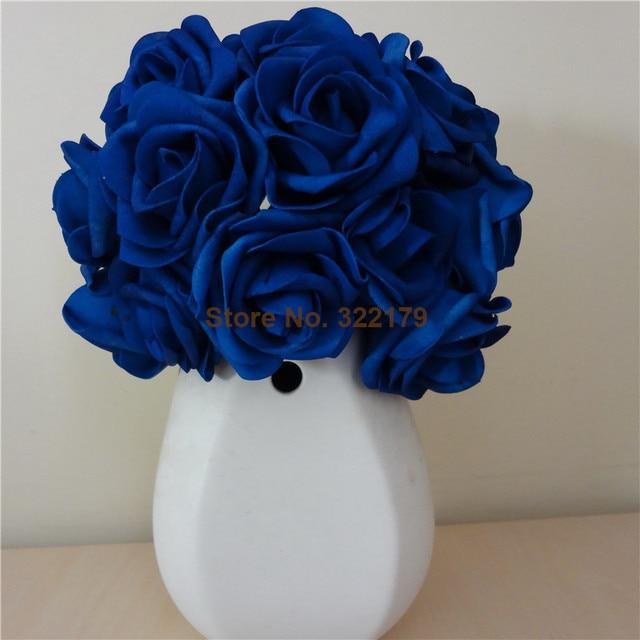 Aliexpress Com Buy 100x Artificial Flowers Royal Blue