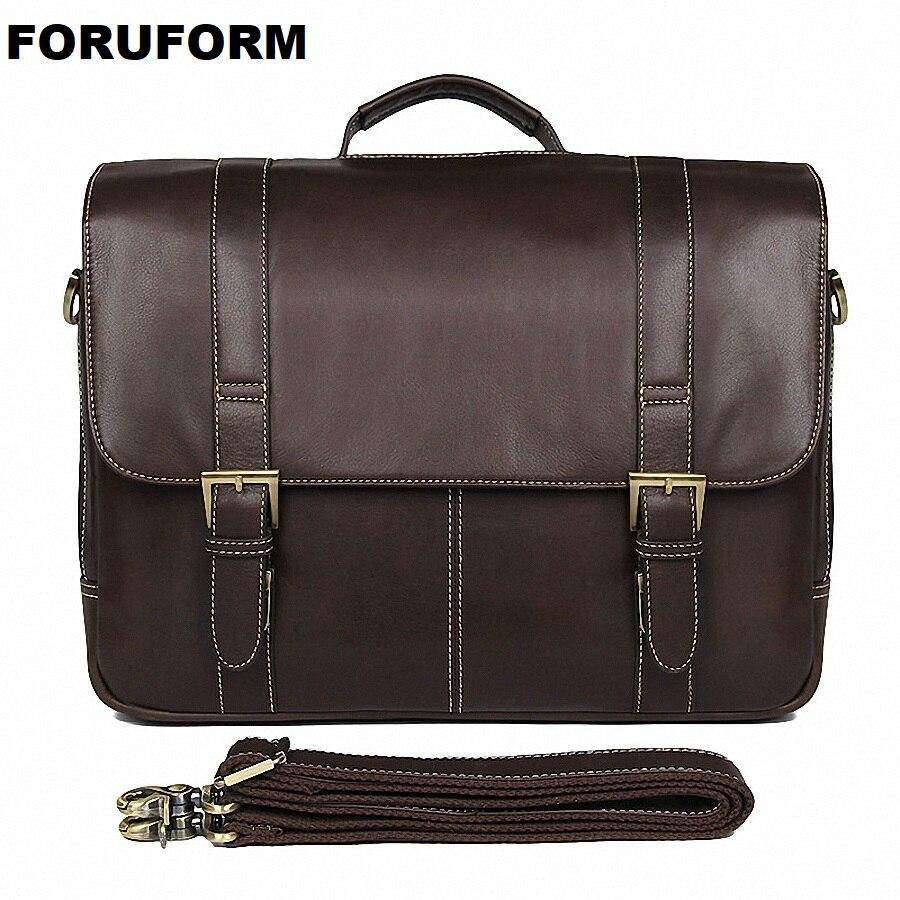 Nouveau sac en cuir de vachette homme porte-documents commercial en cuir véritable vintage pour hommes/sac d'affaires décontracté en peau de vache naturelle LI-2339