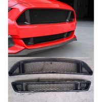 Real FRP Car Front Bumper Mesh Grille Grills For Ford Mustang 2015 2016 2017 Car