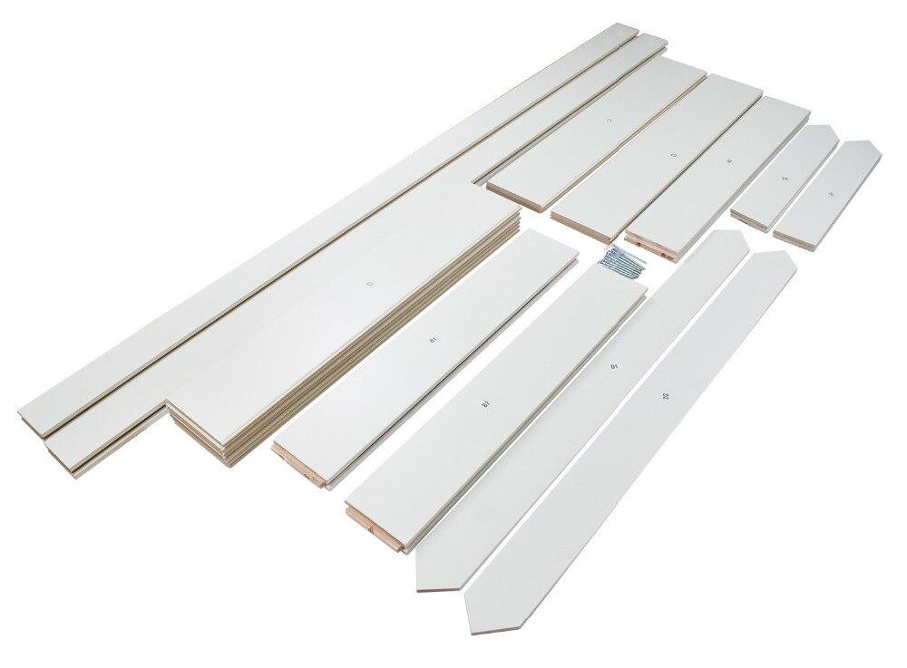 DIYHD Double X forme blanc grange porte dalle MDF solide noyau apprêté intérieur panneau de porte (démonté) - 5