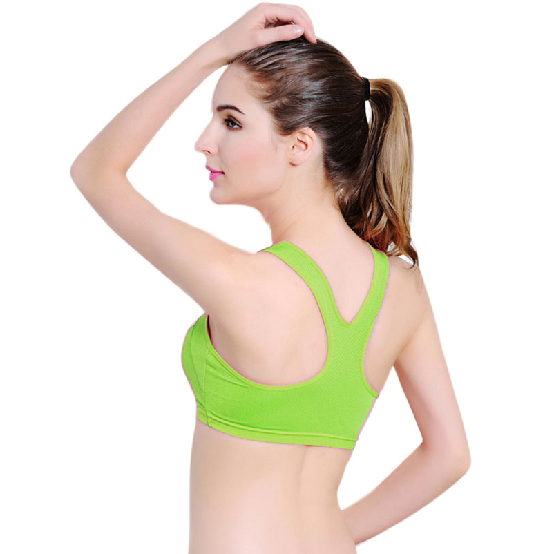 dda9057467fd3 ... Professional Absorb Sweat Top Athletic Sports Bras for Fitness Yoga  Running