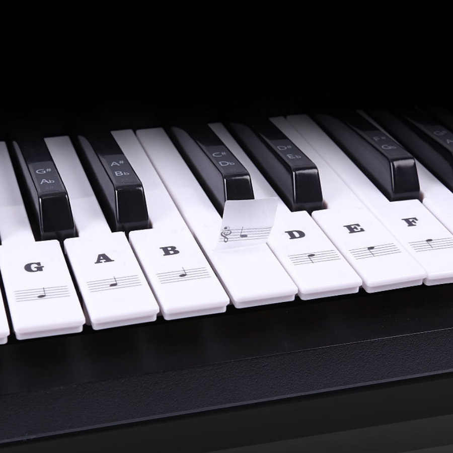 البيانو ملصقات ل مفاتيح شفافة للإزالة الاطفال و مبتدئين لوحة مفاتيح البيانو ملصقات مجموعة كاملة ل لوحات المفاتيح 49/61/88