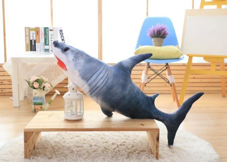 Nouveau cadeau créatif de poupée de requin de simulation de jouet de requin de peluche environ 100 cm 2743