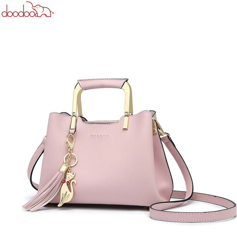 DOODOO Brand Women Shoulder Crossbody Bags Female Handbag Tote Bag Small Pu Leather Top-handle Tassel Messenger Bags Bolso Mujer doodoo brand fashion women bag female shoulder crossbody bags ladies artificial leather tassel new small 5 colors messenger bags