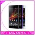 Оригинальный Разблокирована Sony Xperia C C2305 S39h Сотовый телефон Dual Sim Android Quad Core 8MP Камера WIFI GPS 4 ГБ хранения Бесплатная доставка