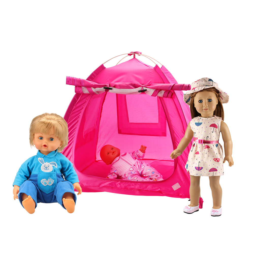 Mini Doll House Accessories Tent China Furniture Bedroom For 18 Inch Doll America Girl Gift Present Living Room Toy Dollhouse
