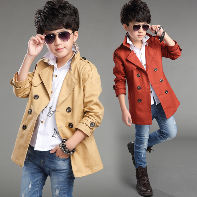 2016 new children's clothing boys windbreaker versiond autumn coat boy jacket spring 4-5-6-78 9 years old and long sections