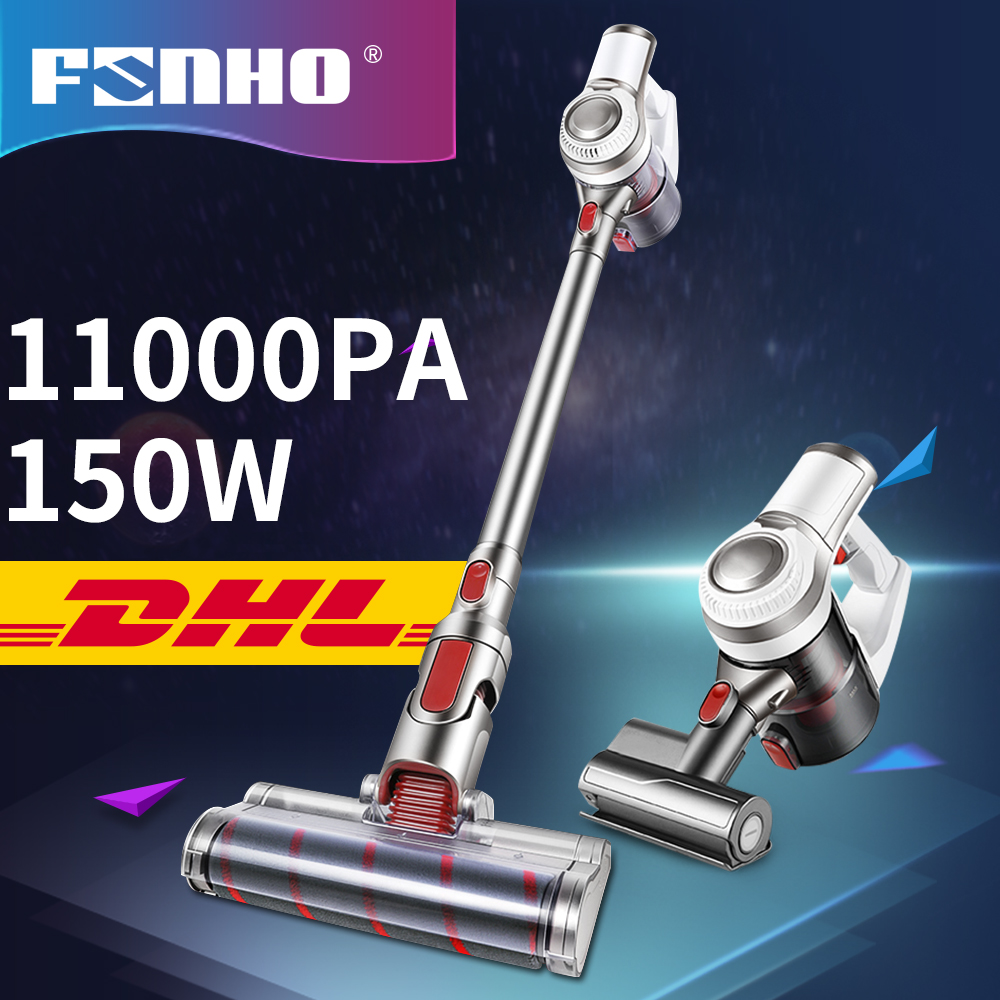 FUNHO 11000Pa Lightweight Cordless Vacuum Cleaner Battery Rechargeable Detachable Bagless Handheld Vacuum