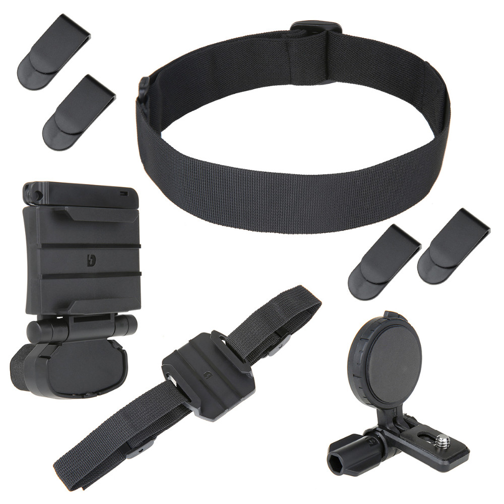 Universal Head Mounting Kit For Sony Action Cam FDR-X1000VR HDR-AS200V AS100V AS50V HDR-AZ1 AS30V  BLT-UHM1 dz chm1 clip head mount kit for sony action camera fdr x1000v hdrr as200v hdr az1vr hdr as100v