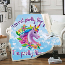 Plstar Cosmos Lisa and Frank Cartoon Blanket 3D print Sherpa on Bed Kids Girl Flower Home Textiles Dreamlike style-1