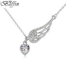 BAFFIN Heart Angel Wing Necklaces&Pendants Crystal From SWAROVSKI For Women Best Friend Gifts Fashion Bijoux
