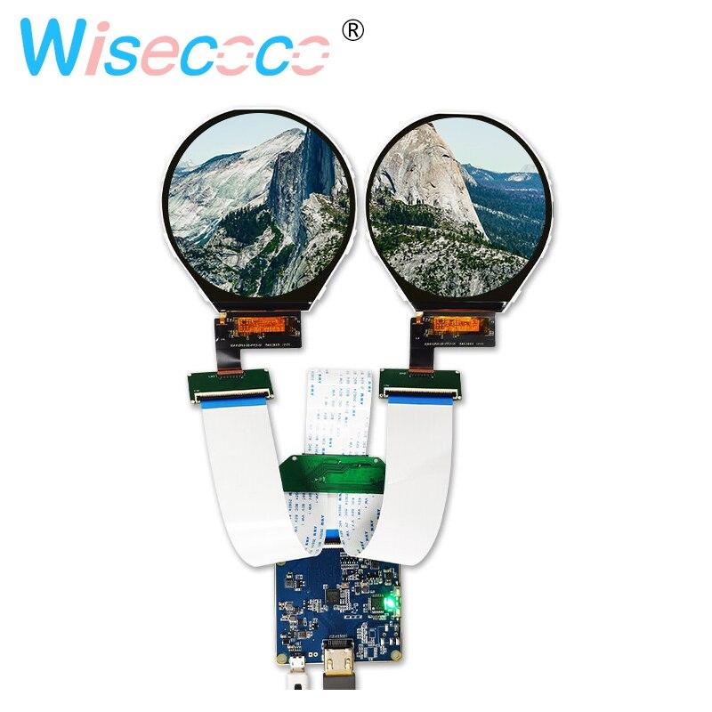 3.4 pouces 800 (RGB) * 800 écran circulaire durale lcd panneau 39 broches avec carte HDMI vers mipidrive pour appareils d'instruments