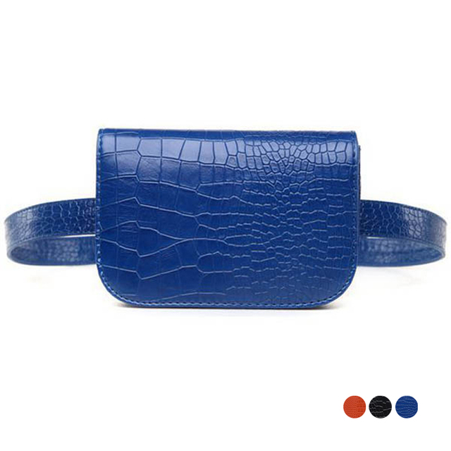 Women's Waist Bag Alligator PU Leather Belt Bags Phone Purse Pouch Waist Pack Travel Fanny Pack for Women Rave Festival Gift