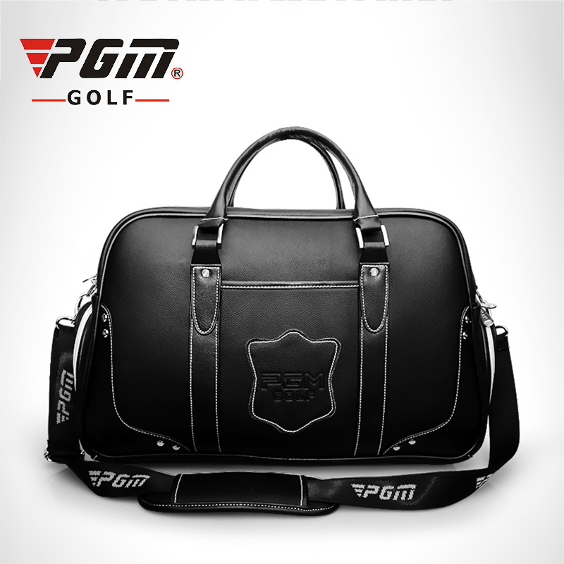 PGM Cowhide Golf Clothing Bag Waterproof Genuine Leather Top Quality Golf Shoes Bag High Capacity Double Layer Golf Sports Bags