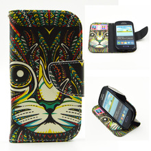 Flip Case for Samsung Galaxy S 3 iii mini S3 Siii i8190 GT-i8190 Value Edition VE i8200 GT-i8200 GT-i8200q Phone Leather Cover