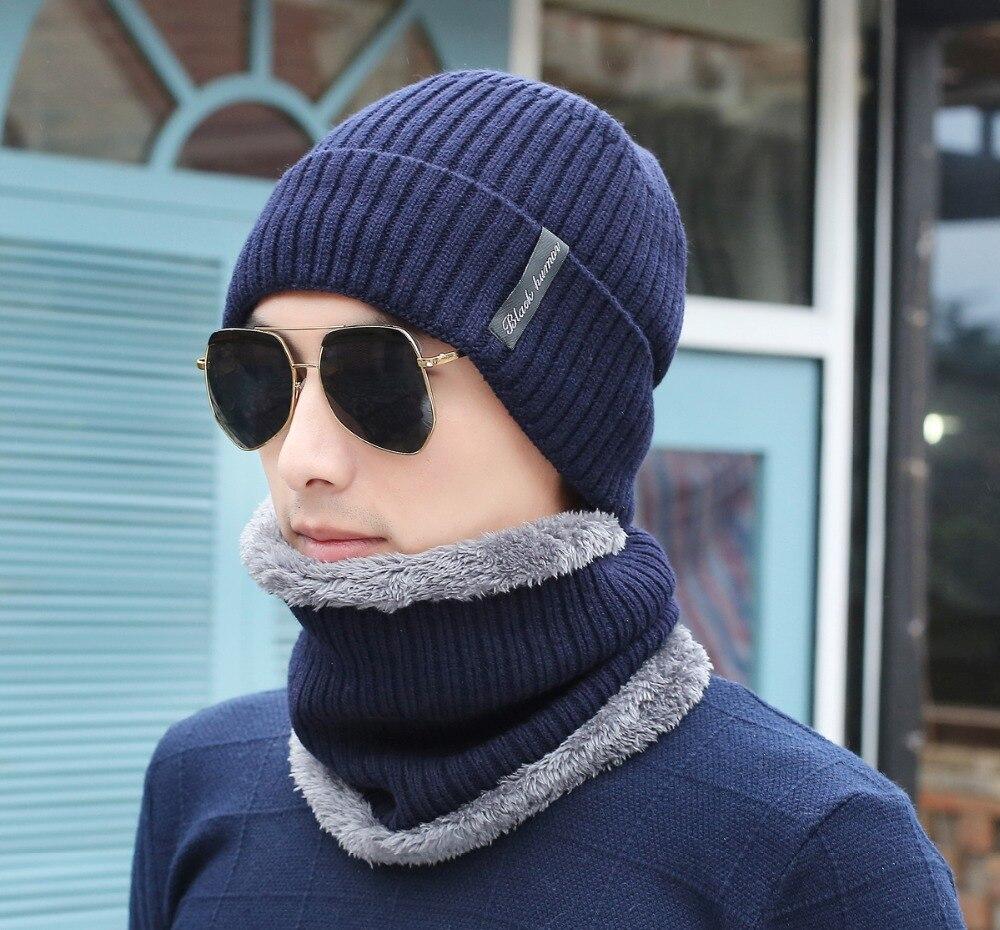 21f9b17b 2018 Hot Wo Winter Hats Skullies Beanies Hat Winter Beanies For Men Women  Scarf Caps Balaclava Mask Gorras Bonnet Knitted Hat