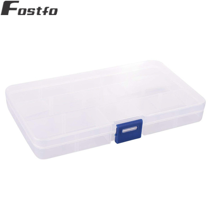 XINYAO-10-15-Slots-Adjustable-Plastic-Storage-Box-Transparent-Rectangle-Case-Organizer-Boxes-For-Small-Handmade (3)