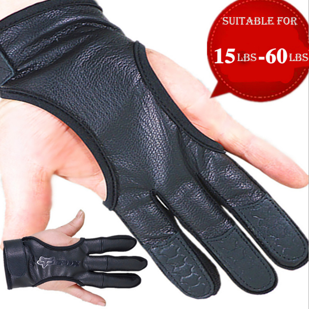 Recurve Archery Glove Bow Soft 2 Finger Archery Arm Training Cover Protective
