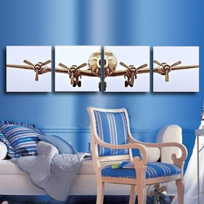 Buy high quality oil style canvas painting wall picture airplane canvas art - Home decoration wholesale paint ...