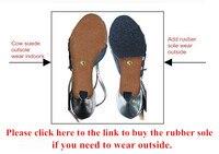 Резиновая подошва для латинских бальных танцев сальса танго танцевальная обувь наружная одежда