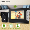 "DBPOWER 7 ""LCD Video Door Phone Video Intercom Doorbell SY813MK11 Home Security IR Camera Monitor With Night Vision Videoportero"