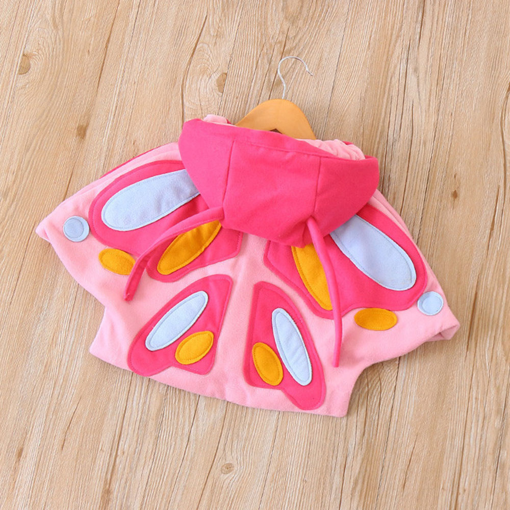d0ec1f534c7a Cute girl clothes Kids Baby Girl Autumn Winter 3D Butterfly Hooded ...