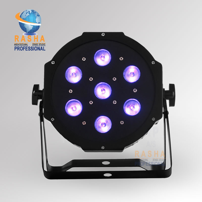 Rasha RASHA Hot Sale 7pcs*12W Quad LEDs (4in1 RGBA/RGBW) LED Mega Quad par Profile,DMX Par Can Stage Lighting 4x lot freeshipping adj 7 12w 4in1 quad leds rgba rgbw mega quad led par profile dmx led par can american stage light