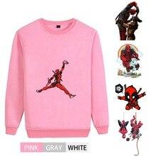 Marvel Avengers hero Deadpool Cool design O-NECK Cotton Sweatshirts leisure Leisure Unisex Sweatshirt A193291