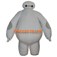 New Top Fashion Halloween Costumes For Carnival Costume Big Hero 6 Mascot Costume Baymax Inflatable Cosplay Free Shipping