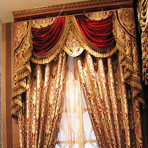 Free Shipping Dangleterre classic royal quality curtain