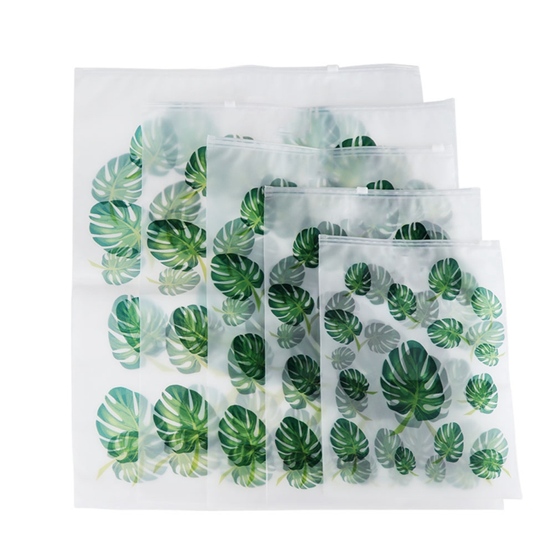 ABDB-5 Piece Travel Goods Transparent Plant Waterproof Travel Storage Bag Portable Ladies Storage Bag Wash Bath Set Travel Bag