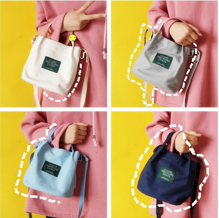Canvas Handbag Mini Single Shoulder Bag Crossbody Messenger Bag Swagger Bag Shopping Bags Bucket Pack